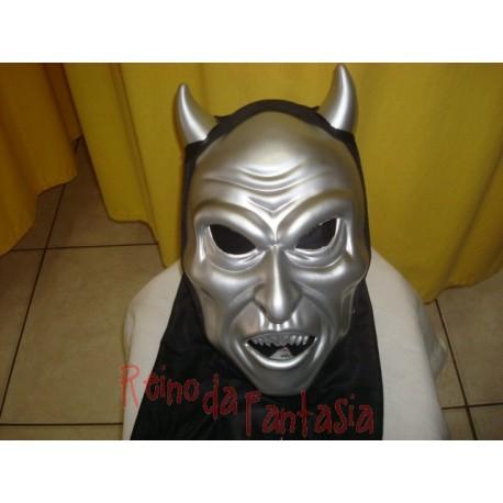 Máscara Diabo Metalizada c/ Capuz